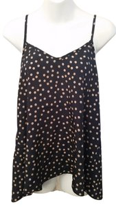 Day Trip Cami Polka Dot Top Navy Blue and Tan