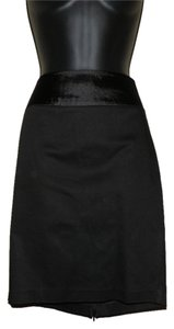 Arden B. Bow Pencil Cotton Skirt Black