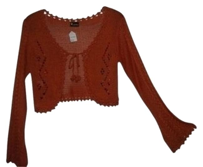 Preload https://item2.tradesy.com/images/ariella-light-copper-knit-half-with-flared-sleeves-beads-sweaterpullover-size-petite-8-m-9391-0-0.jpg?width=400&height=650