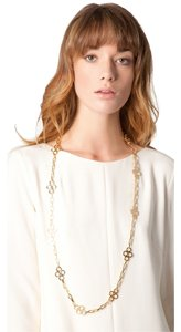 Tory Burch NEW!!! Tags Tory Burch Gold Large Long Summer Clover Necklace NWT!