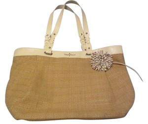 Cole Haan Tote in light brown with white straps
