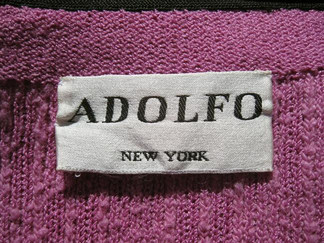 Adolfo Vintage Boucle Knit Piping lilac pink Jacket