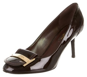 Louis Vuitton Brown Dark Brown, Purple Pumps