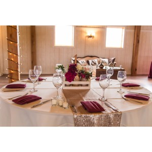 13 Sequin Table Runners In Champagne Blush
