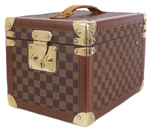 Louis Vuitton Beauty Case Trunk Travel Rare Limited Edition Brown Travel Bag
