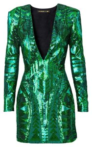 Balmain x H&M Sequin Longsleeve V-neck Evening Formal Cocktail Party Dress