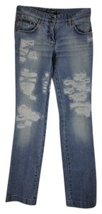 Dolce&Gabbana Distressed Mid Rise Denim Size 40 Boot Cut Jeans-Distressed