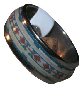 Abstract Design Enamel & Stainless Steel Band Ring Unisex Buy two $10 rings for $15 Free Shipping