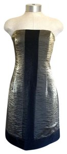 Laundry by Shelli Segal Gold Metallic Strapless Dress