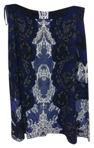 BCBGMAXAZRIA Skirt Blue, Black, and White
