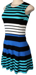 Aqua short dress Aqua, Royal Blue, Black, White Night Out Date Night Picnic on Tradesy