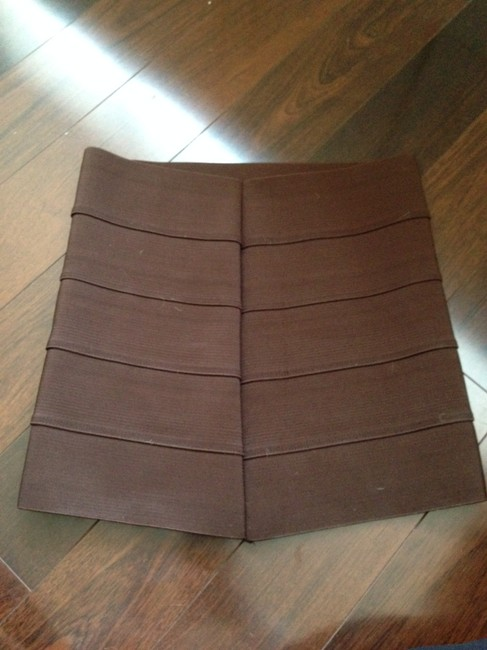 Pleasure Doing Business Bandage Herve Leger Herve Mini Skirt Brown