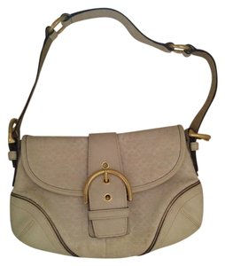Coach Monogram Gold Hardware Shoulder Bag