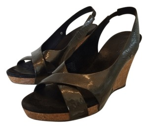 UGG Australia Slingback Wedge Sandal Black / Cork Wedges