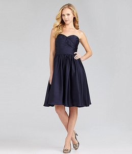 Monique Lhuillier Navy Strapless Dress