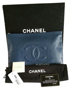 Chanel Made In France Mif Dust Navy Clutch