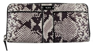 Tumi Tumi Python Contiential Zip Around Wallet - Brown/Ivory