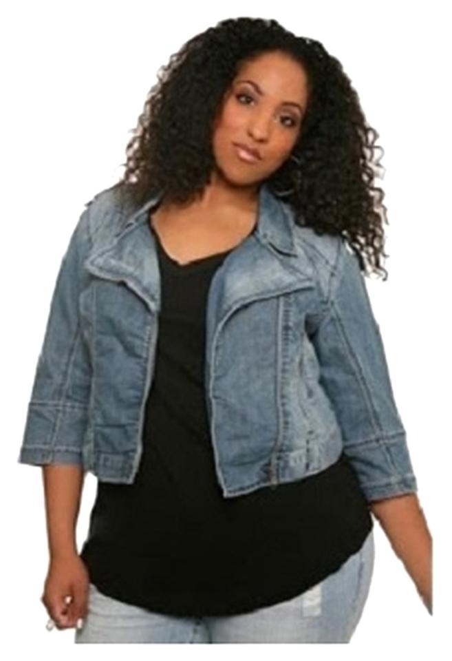 1ce68ac2bee Torrid Cropped Zippers Plus-size Motorcycle Jacket Image 0 ...