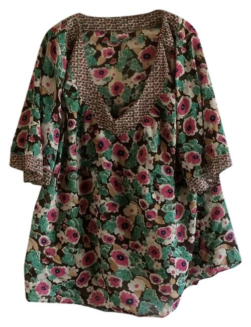 Torrid Plus-size Top Brown/Floral print