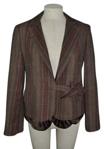 BCBGMAXAZRIA Wool Blend Plaid Preppy Bcbg Brown Blazer