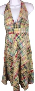 J.Crew short dress Patchwork V-neck Open Shoulder on Tradesy