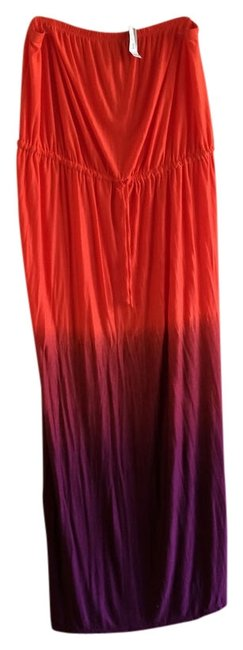Item - Red Plus-size Long Casual Maxi Dress Size 22 (Plus 2x)