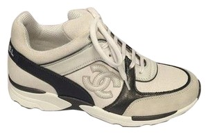 Chanel Leather Sneakers Trainers White Athletic