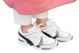 Chanel Leather Sneakers White Athletic