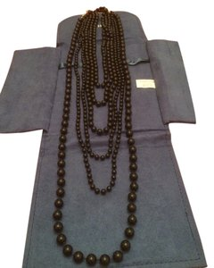 Other Multi-strand Black Beaded Necklace
