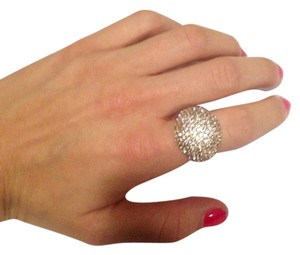 t + j Designs Crystal Pave Cocktail Ring