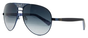 Just Cavalli Just Cavalli Navy Blue Teardrop Aviator Sunglasses