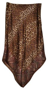 Gap Midi 100% Silk Silk Skirt Brown