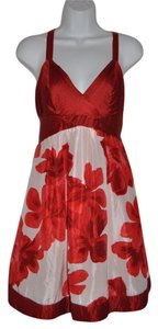 Guess short dress Red+White Floral Valentine's Day on Tradesy