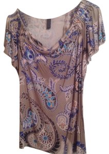 Alfani Top Multi Color/Grey-Purple