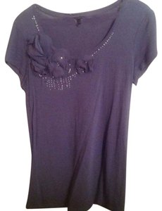 Ann Taylor Top Grey-Dusk Blue