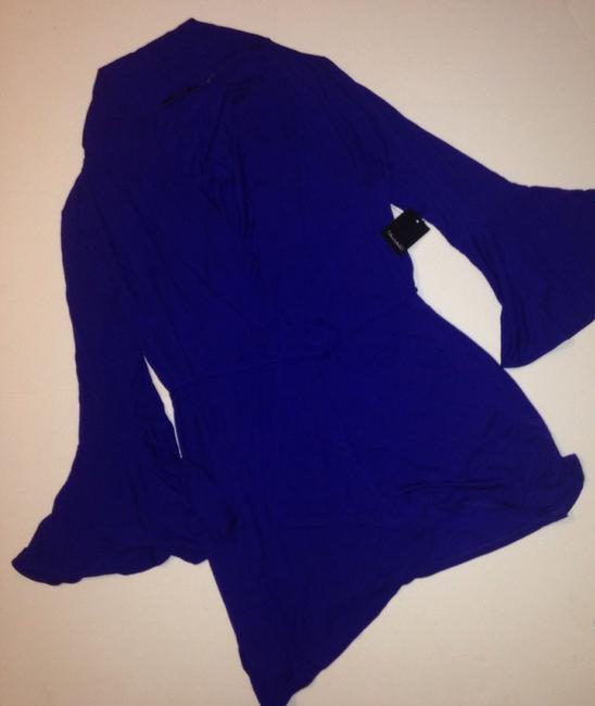 Tahari Long Sleeves Blue S New Cardigan