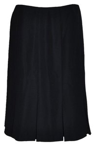 Calvin Klein Pleated Suit Business Attire Skirt Black