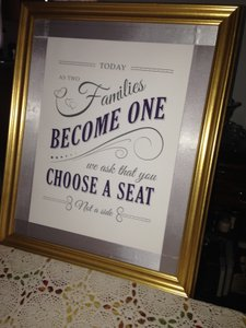 Guest Seating Sign - Ceremony Or Reception