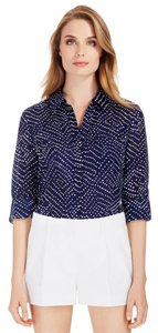 Diane von Furstenberg Top Batik Midnight