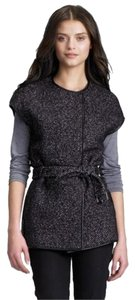 Tory Burch Coat Herringbone Wool Black gray Jacket