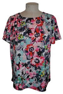 KUT from the Kloth Tulip Back Watercolor Floral Casual Top Multi-Color