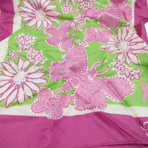 Lilly Pulitzer Lilly Pulitzer Pink & Green Silk Scarf- for Breast Cancer Awareness