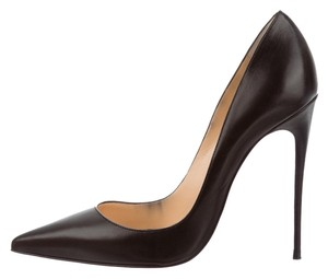 Christian Louboutin Leather Stiletto Pump Black Pumps