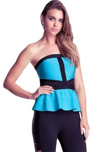bebe Top Blue and Black
