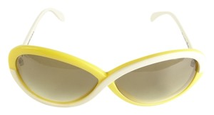Silhouettes Silhouette 3024 Yellow and White Vintage Sunglasses New
