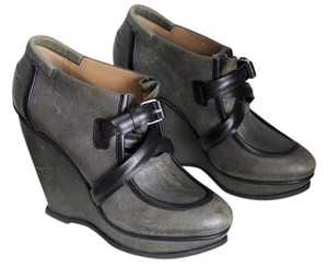 Balenciaga Suede Wedge Ankle Grey Boots