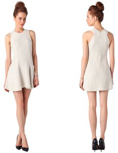 Theory Boucle Silver Runway Collection Flare Dress
