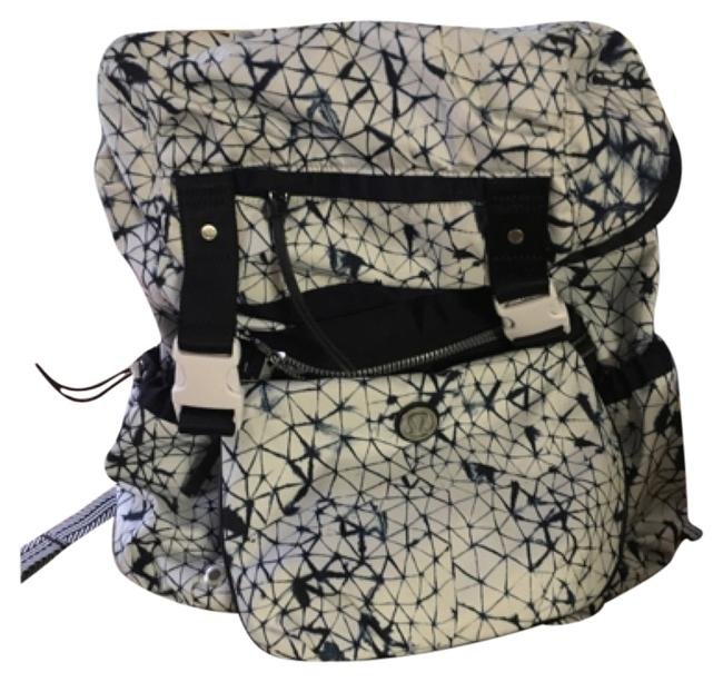 Item - Yogini Rucksam White and Blue Nylon Backpack