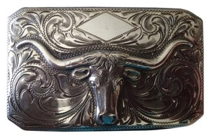 Edward Bohlin Edward Bohlin Sterling Silver Classic Steerhead Belt Buckle