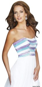 Sherri Hill Strapless Sequin Full Length Dress